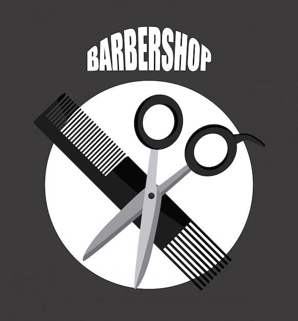 Barbershop-logo Gratis Vector