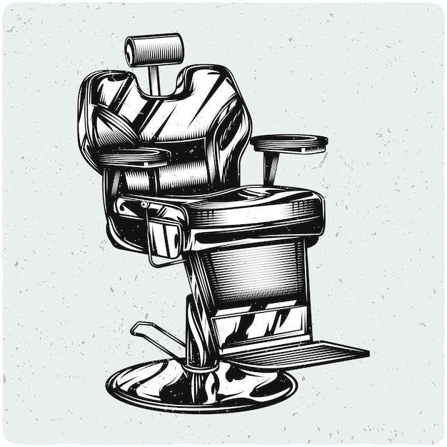 Barbershop stoel Premium Vector
