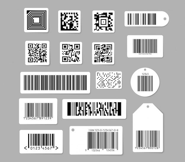 Barcode en qr-codes ingesteld Gratis Vector