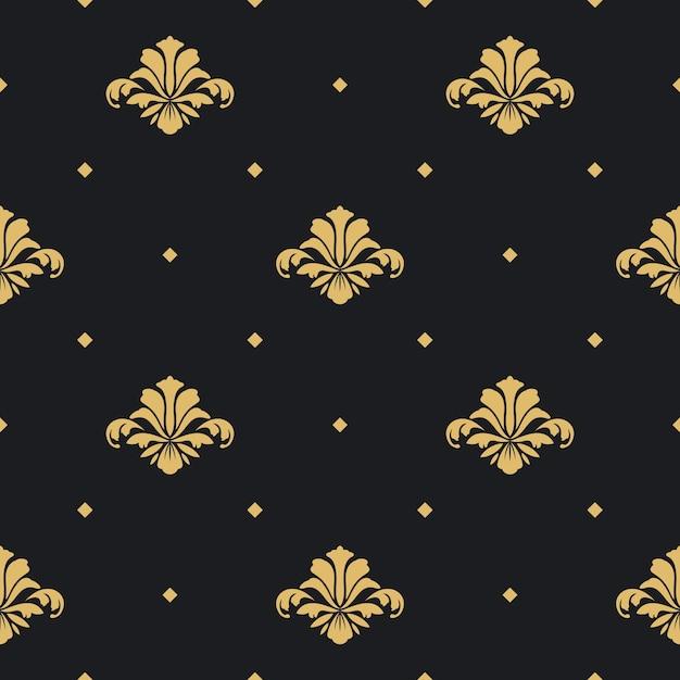 Barok koninklijk design behang. achtergrond ontwerppatroon naadloos, Gratis Vector