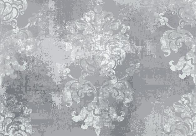 Barok ornament. luxe aquarel trendy textuur Premium Vector