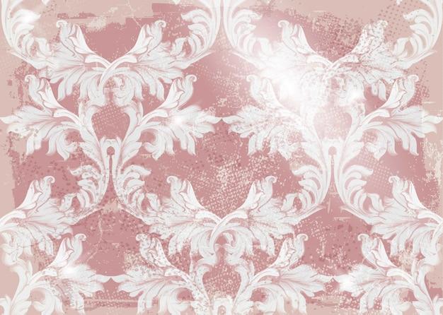 Barokke van de patroon oude stoffen vector als achtergrond