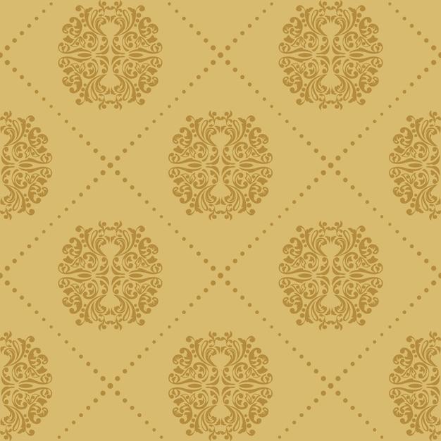 Barokke vintage naadloze achtergrond. patroon Gratis Vector