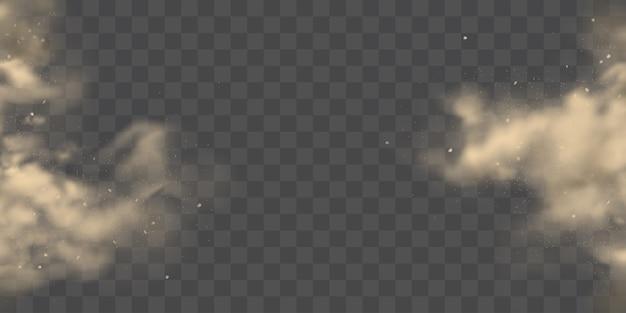 Barst van de kanten stofwolken realistische vector Gratis Vector
