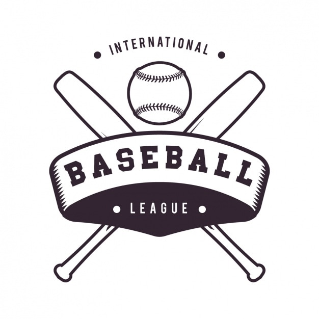 Baseball logo template ontwerp Gratis Vector