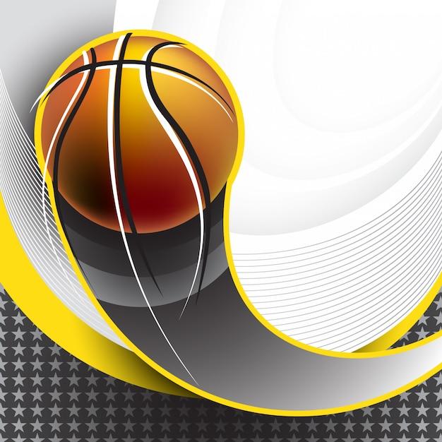 Basketbal achtergrondontwerp Premium Vector
