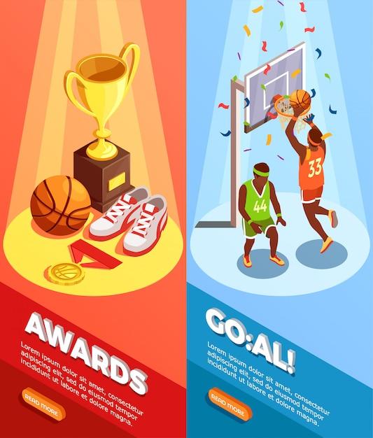Basketbal awards verticale banners Gratis Vector