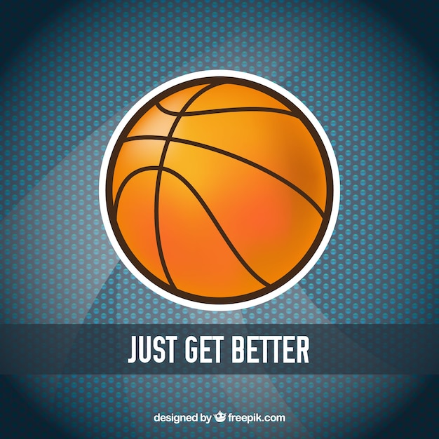 Basketbal bal stickerachtergrond Gratis Vector