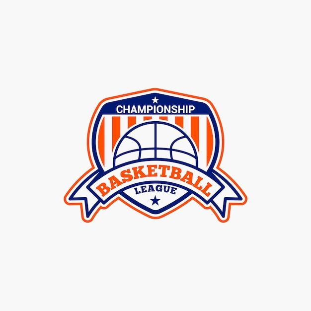 Basketbal club badge Premium Vector