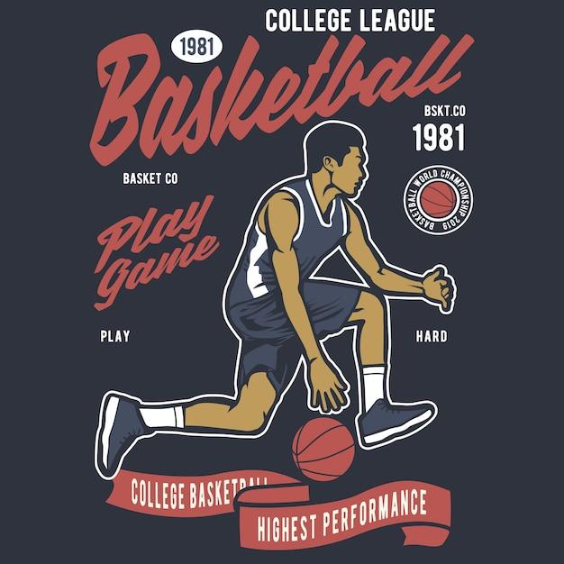 Basketbal college league Premium Vector
