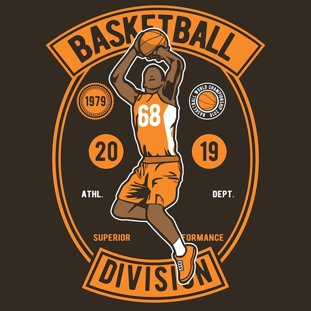 Basketbal divisie Premium Vector