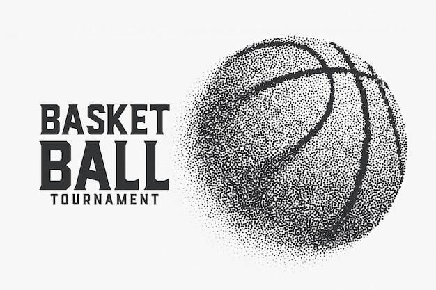 Basketbal gemaakt met kleine puntjes creatieve achtergrond Gratis Vector