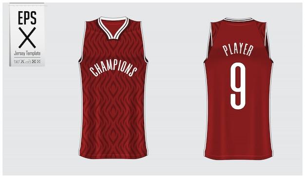Basketbal jersey sjabloonontwerp Premium Vector
