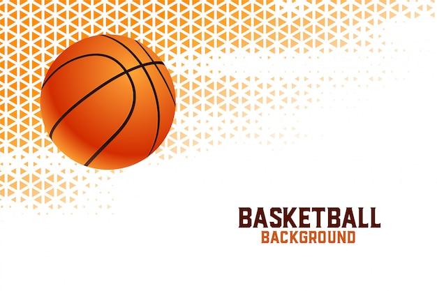 Basketbal kampioenschap toernooi achtergrond met driehoek patronen Gratis Vector