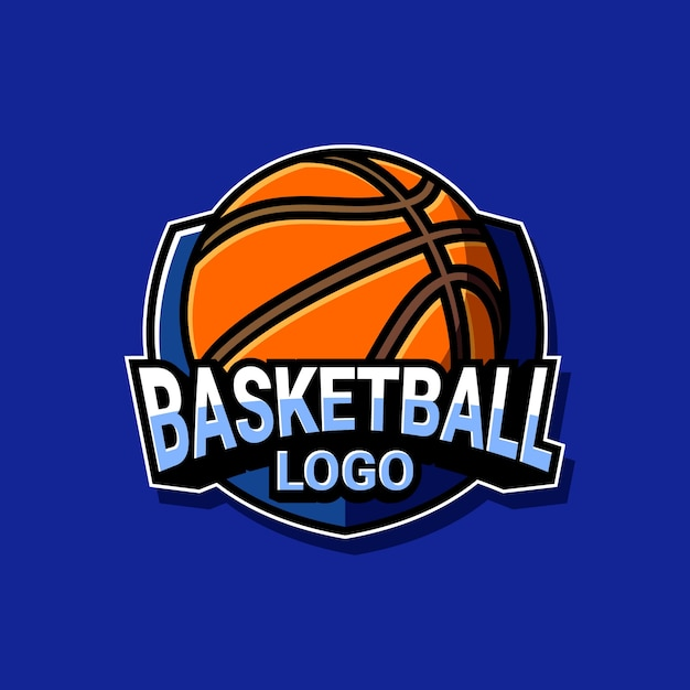 Basketbal logo Premium Vector