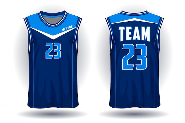 Basketbal shirt Premium Vector