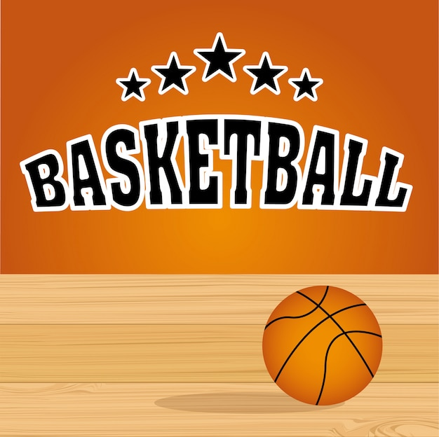 Basketbal sport Premium Vector