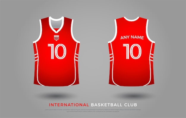 Basketbal t-shirt uniform set van de kit. basketbal jersey sjabloon Premium Vector