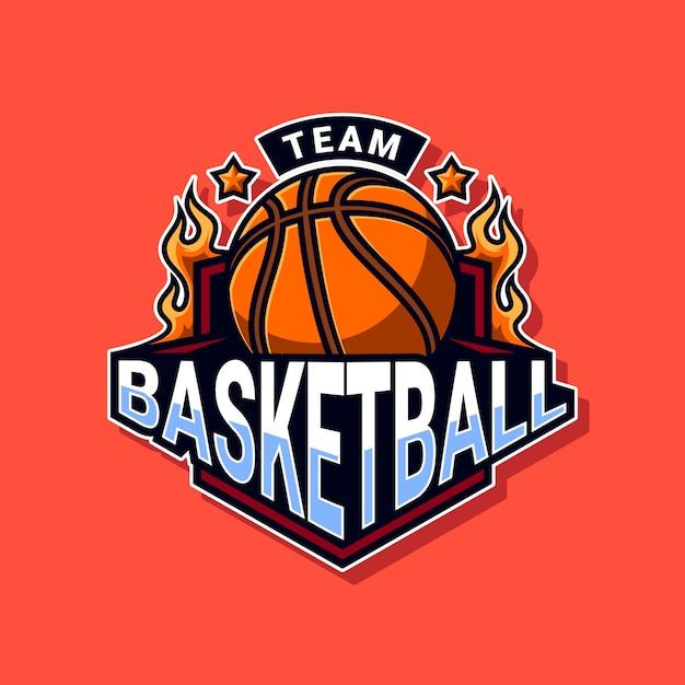 Basketbal team logo Premium Vector