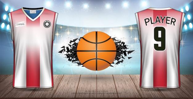 Basketbal uniformen Premium Vector
