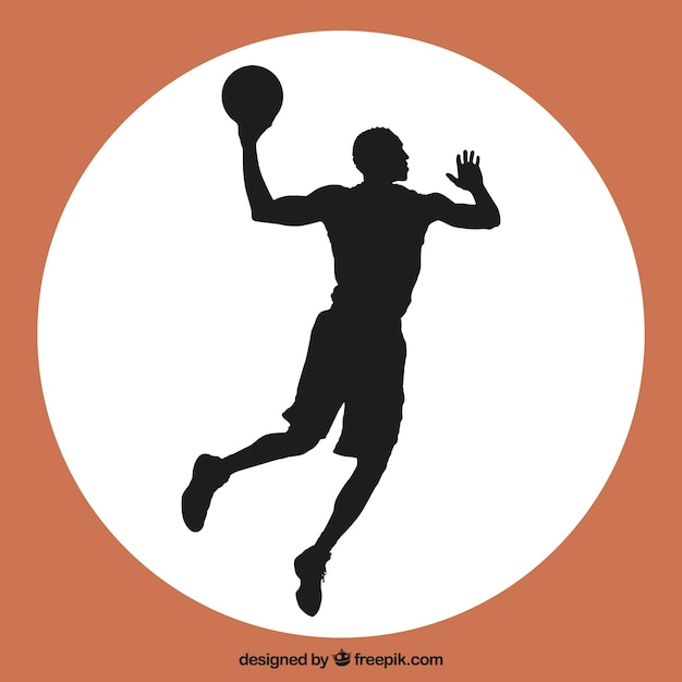 Basketballer sprong vector Gratis Vector