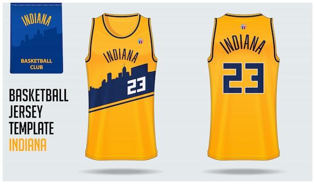 Basketbalshirt indiana Premium Vector