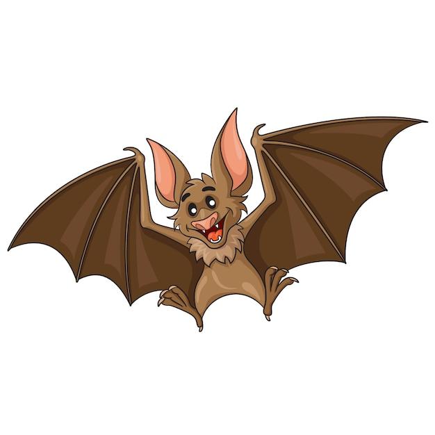 Bat cartoon Premium Vector