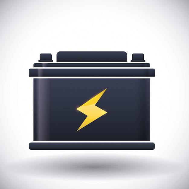 Batterij energie ontwerp. Premium Vector