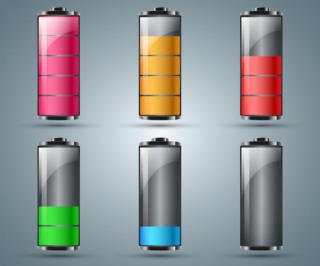 Batterij infographic Premium Vector