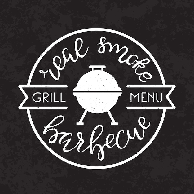 Bbq barbecue party poster. Gratis Vector