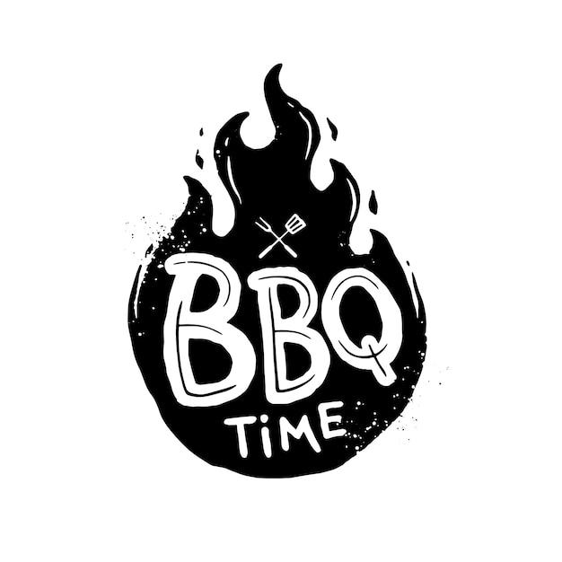 Bbq tijd Premium Vector