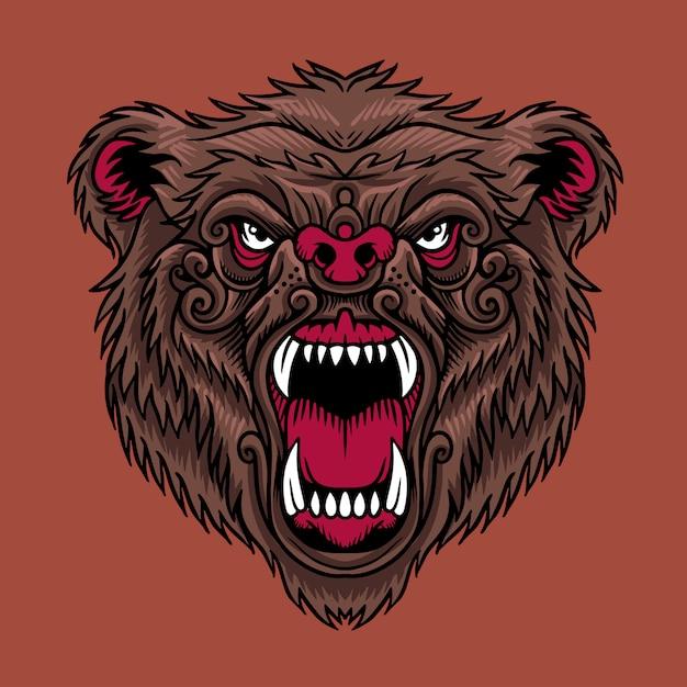 Bear head Premium Vector