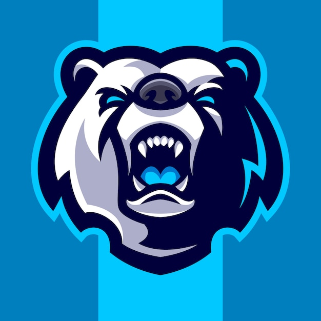 Bear hoofd mascotte logo Premium Vector