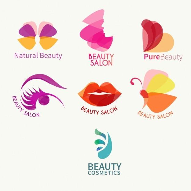 Beauty logo collectie Gratis Vector