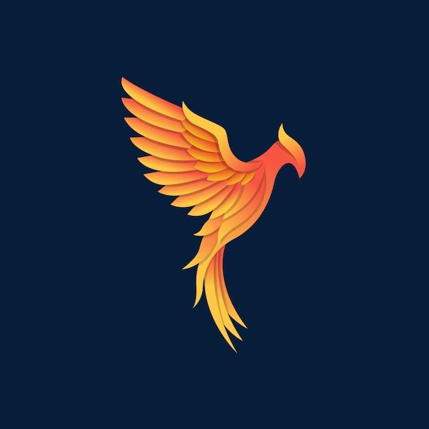 Beautyful sterke phoenix vector Premium Vector