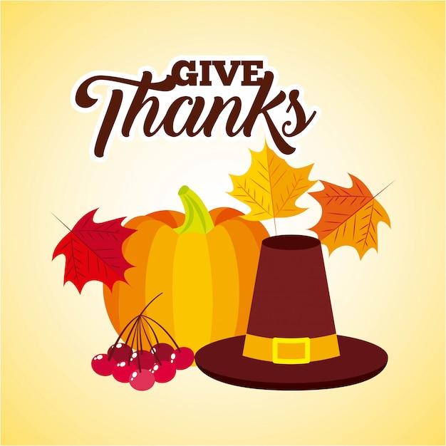 Bedanken. fijne thanksgiving-dag Gratis Vector