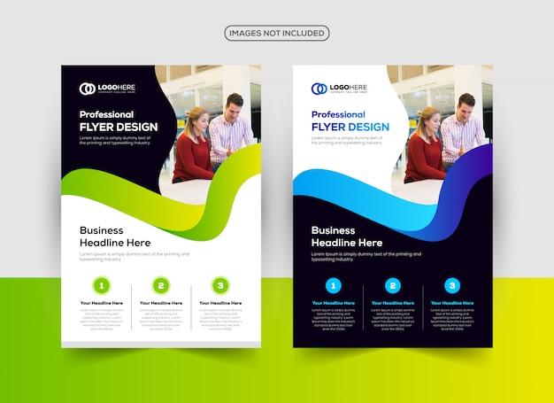 Bedrijf flyer ontwerpsjabloon Premium Vector