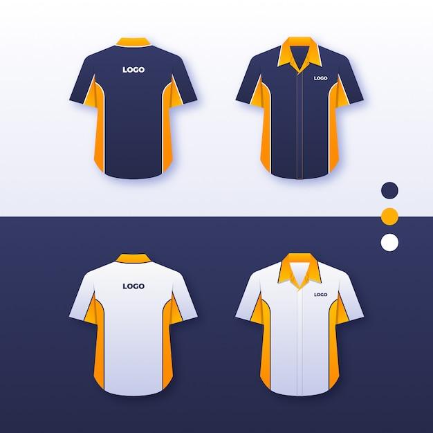 Bedrijf uniform shirtontwerp Premium Vector