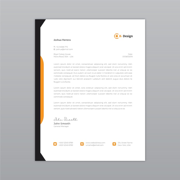 Bedrijfs abstract briefhoofd Premium Vector