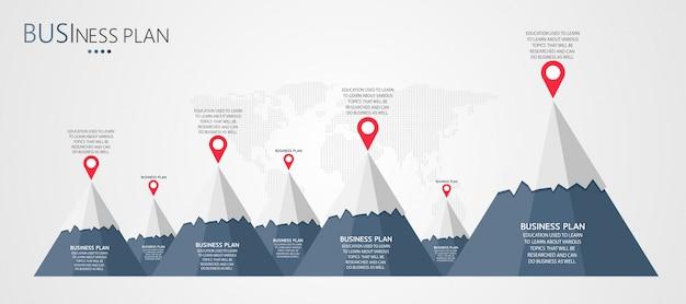 Bedrijfs- en onderwijsdiagrammen Premium Vector