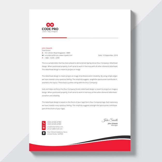 Bedrijfsbriefpapier Premium Vector