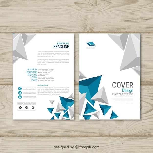 Bedrijfsbrochure met abstracte stijl Gratis Vector