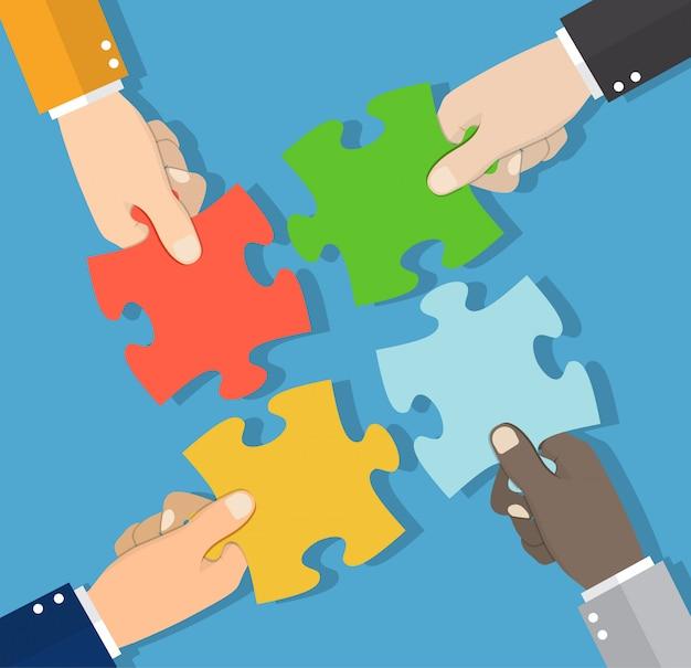 Bedrijfsconcept. oplossing en succes, Premium Vector