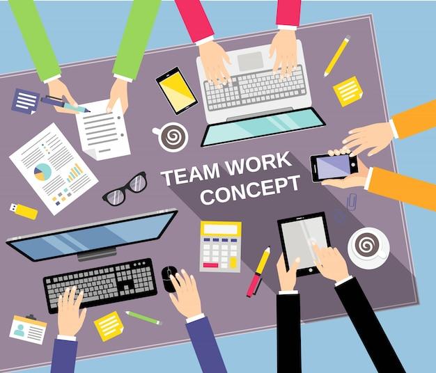 Bedrijfsconcept teamwerk Gratis Vector