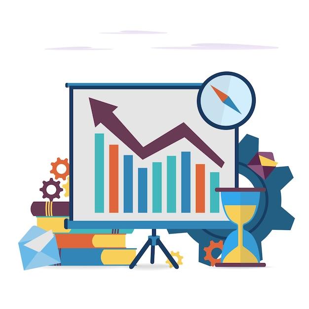 Bedrijfselement voor presentaties, reclame, web. Premium Vector