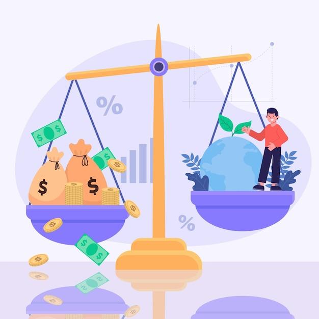 Bedrijfsethiek concept illustratie Gratis Vector