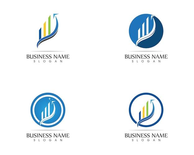 Bedrijfsfinanciënembleem - vectorconceptenillustratie Premium Vector