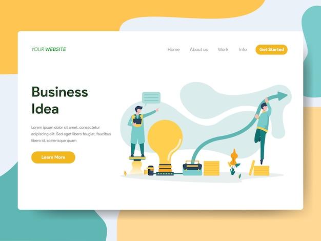 Bedrijfsidee voor websitepagina Premium Vector