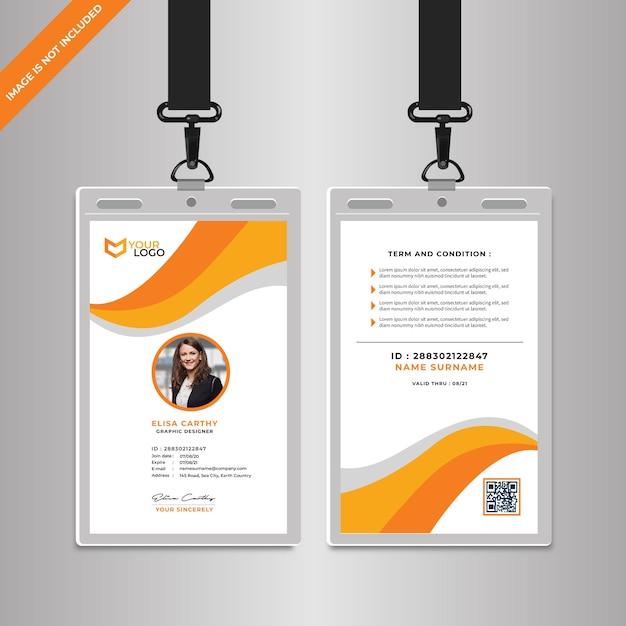 Bedrijfsidentiteitskaart sjabloon Premium Vector