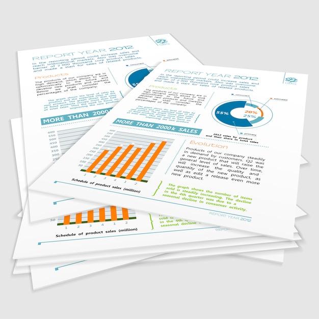 Bedrijfsjaarverslag Premium Vector